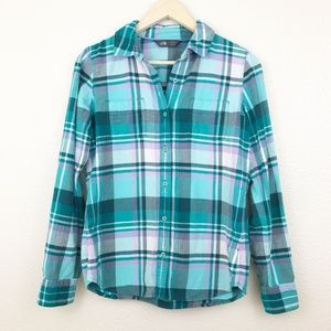 The North Face Fair Acres Flannel Purple Top